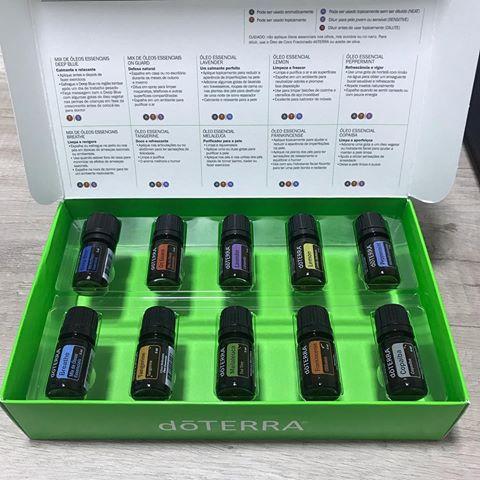 Caixa de óleos essenciais BR Living Kit - doTERRA Brasil